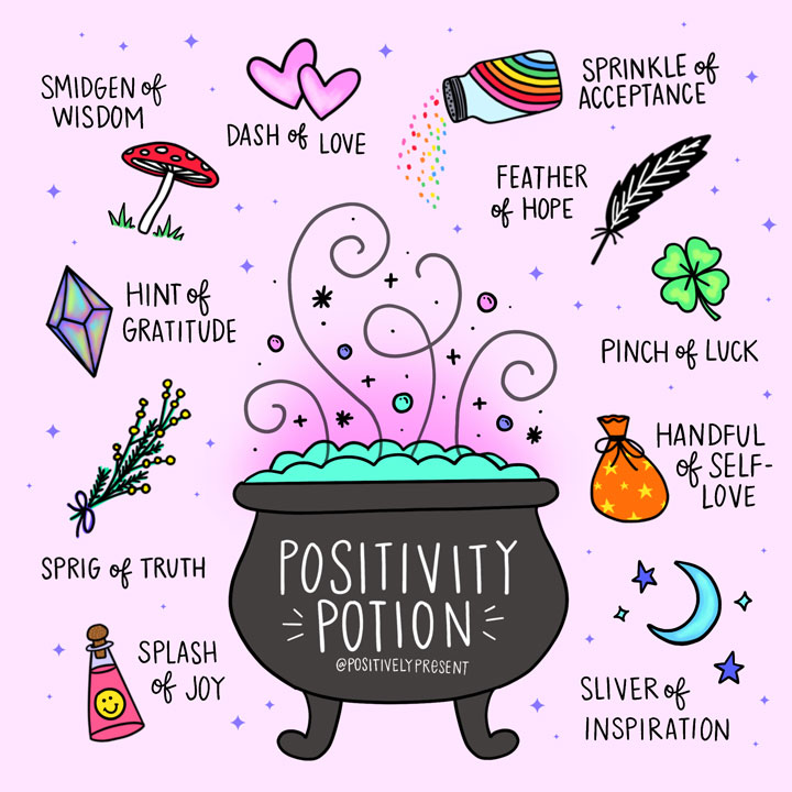 how to make a positivity potion