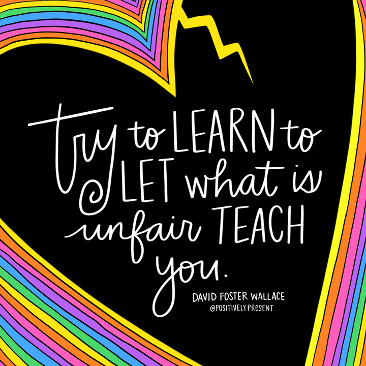 let whats unfair teach you quote