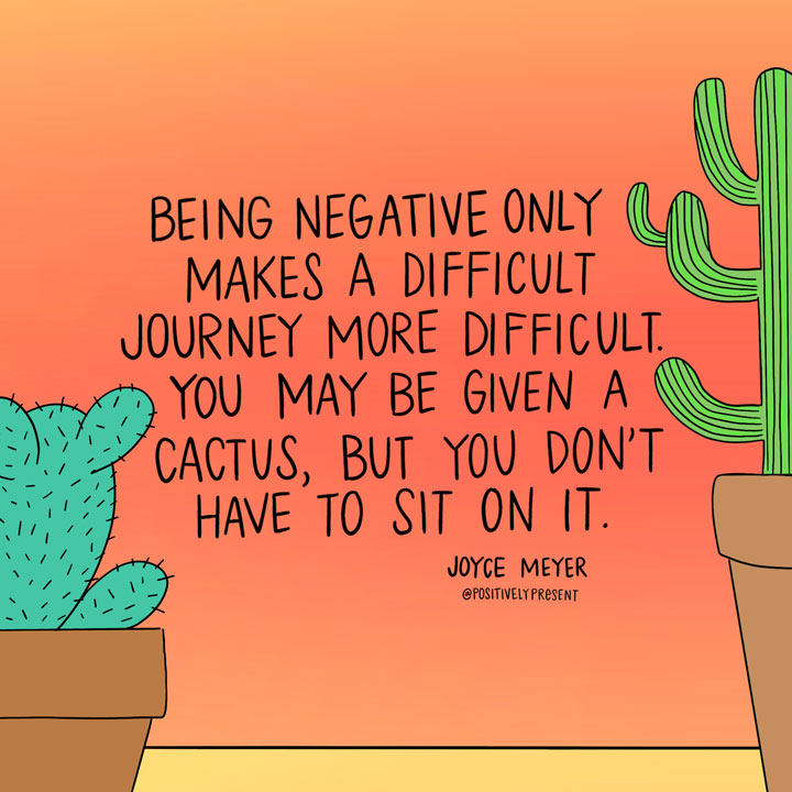 dont sit on a cactus quote