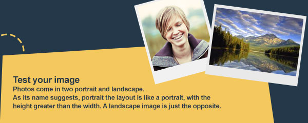 example of portrait and landscape photos.