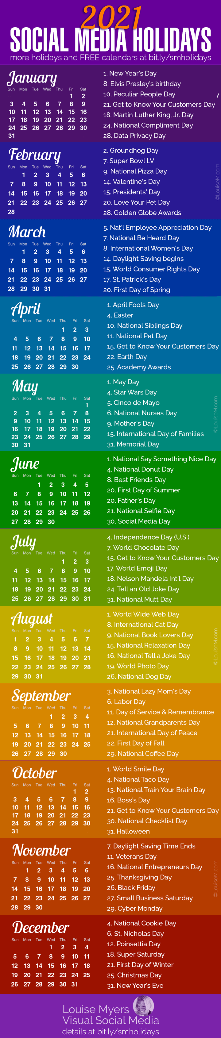 100+ Social Media Holidays You Need in 2020 21: Indispensable!