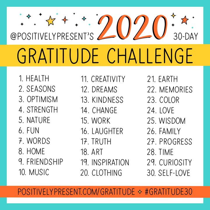 artwork for november gratitude challenge prompts.