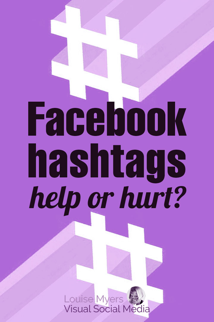 Facebook hashtags pinnable graphic