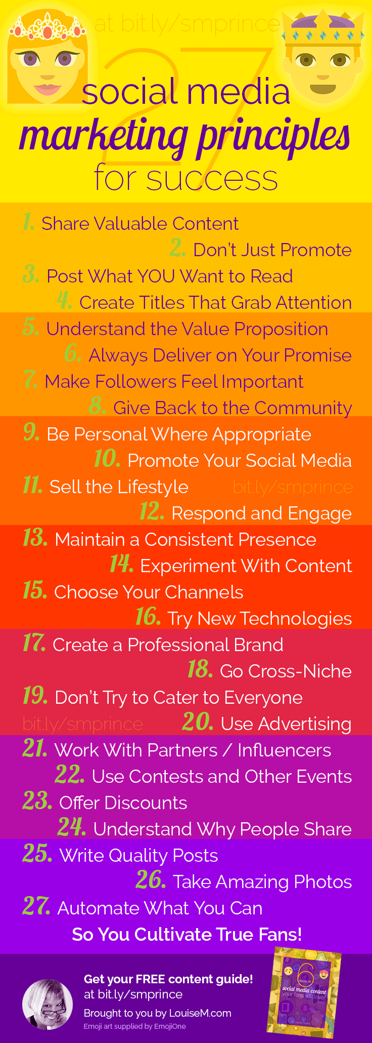 social media principles infographic