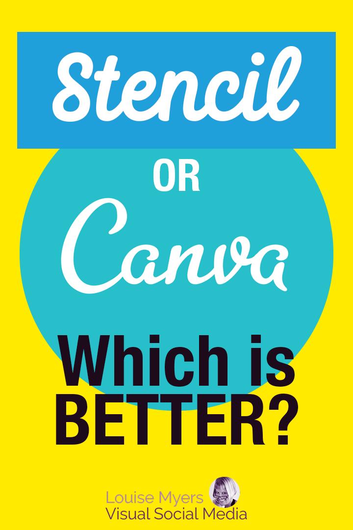 Stencil vs Canva pinnable graphic