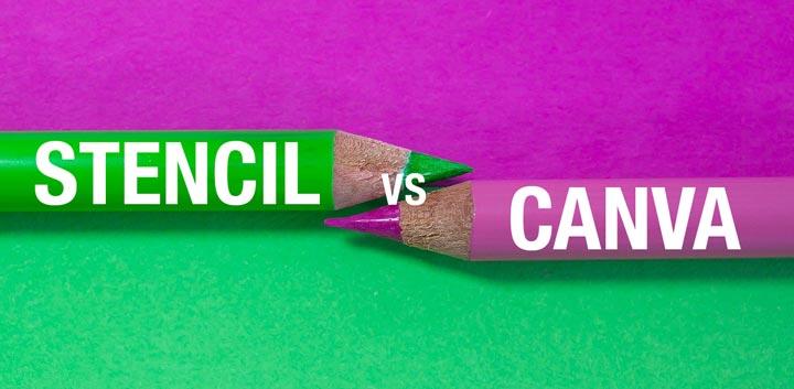 Stencil vs Canva graphic