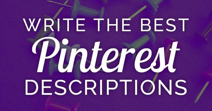 best pinterest descriptions banner image