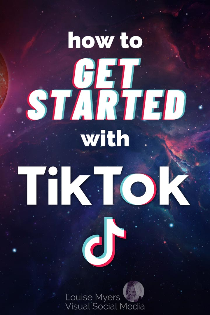 how to get started with tiktok pinnable image
