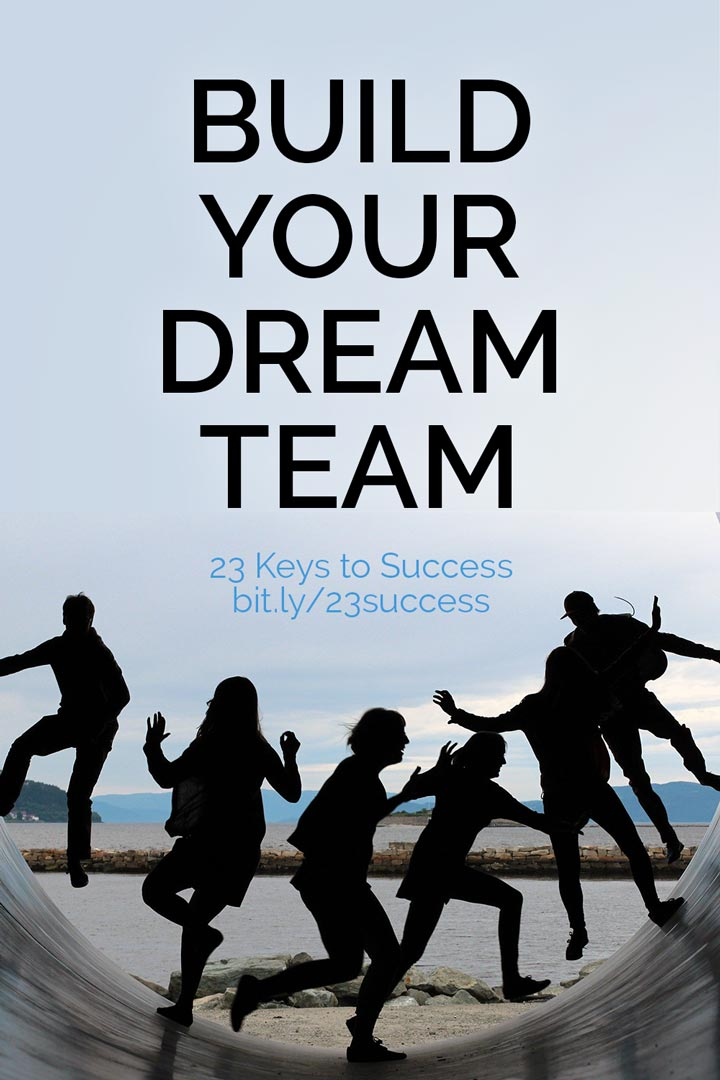 Build your dream team success tip graphic