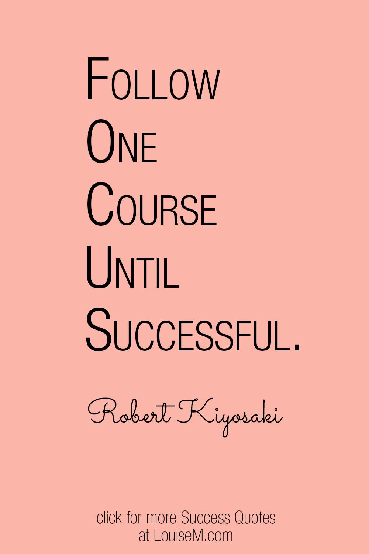 Robert Kiyosaki FOCUS quote on peach background