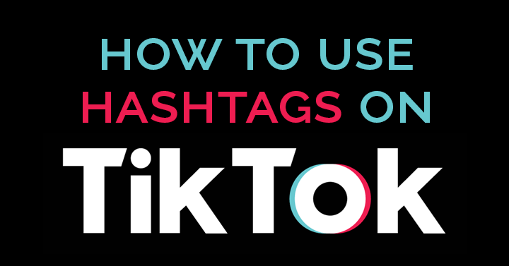 how to use hashtags on TikTok header image
