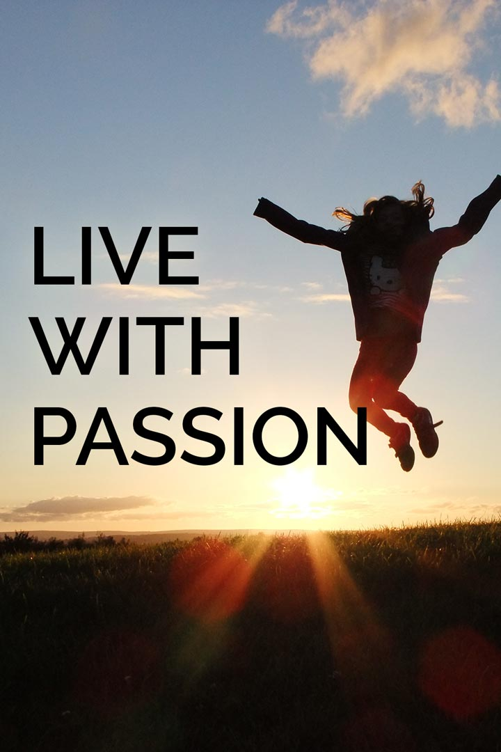 Live with passion success tip graphic