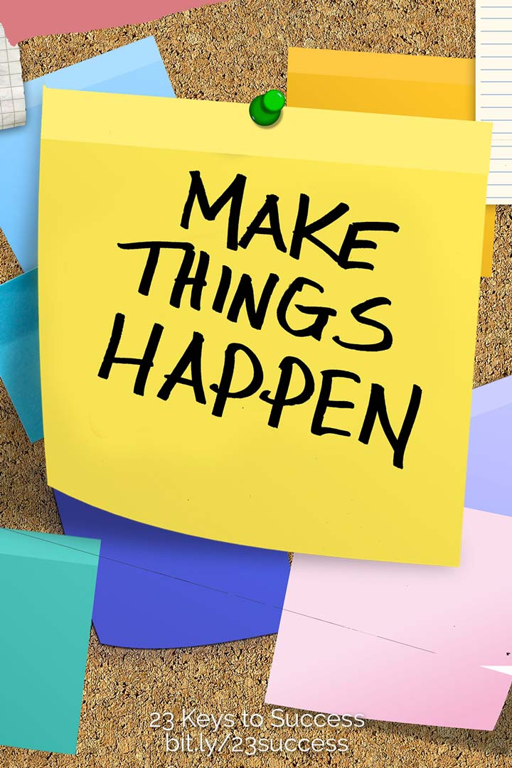 Make things happen success tip graphic