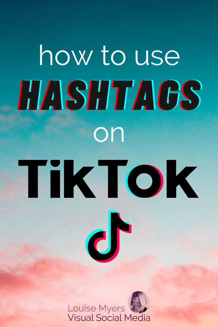 how to use tiktok hashtags pinnable image
