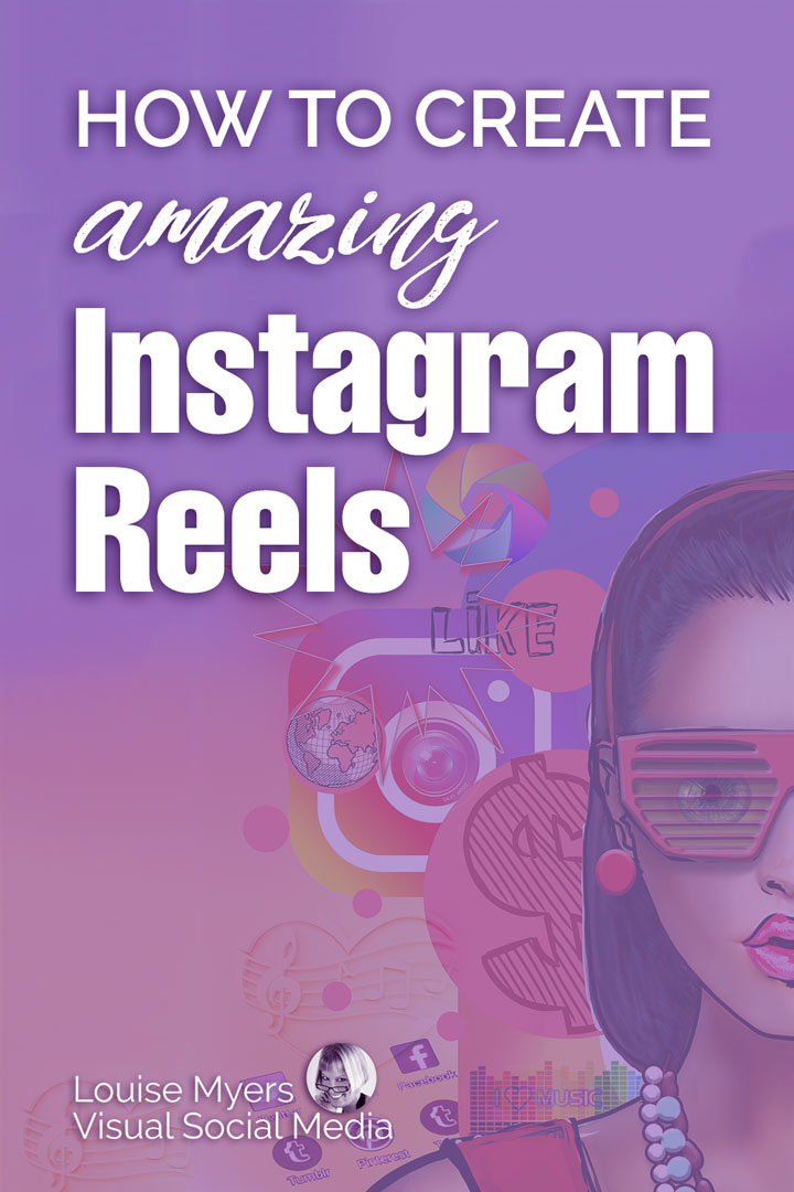 create amazing instagram reels purple pinnable image.