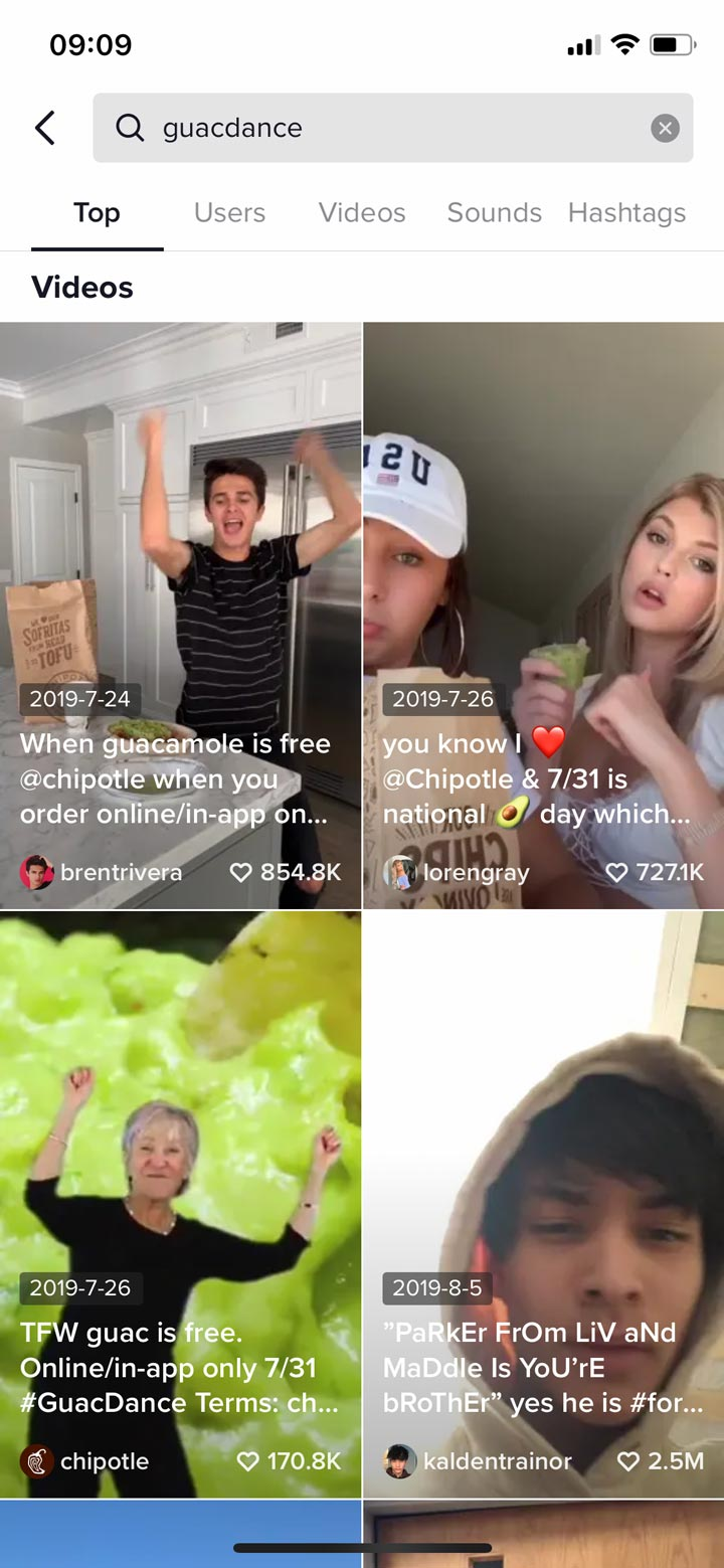 branded hashtag challenge on tiktok screenshot.