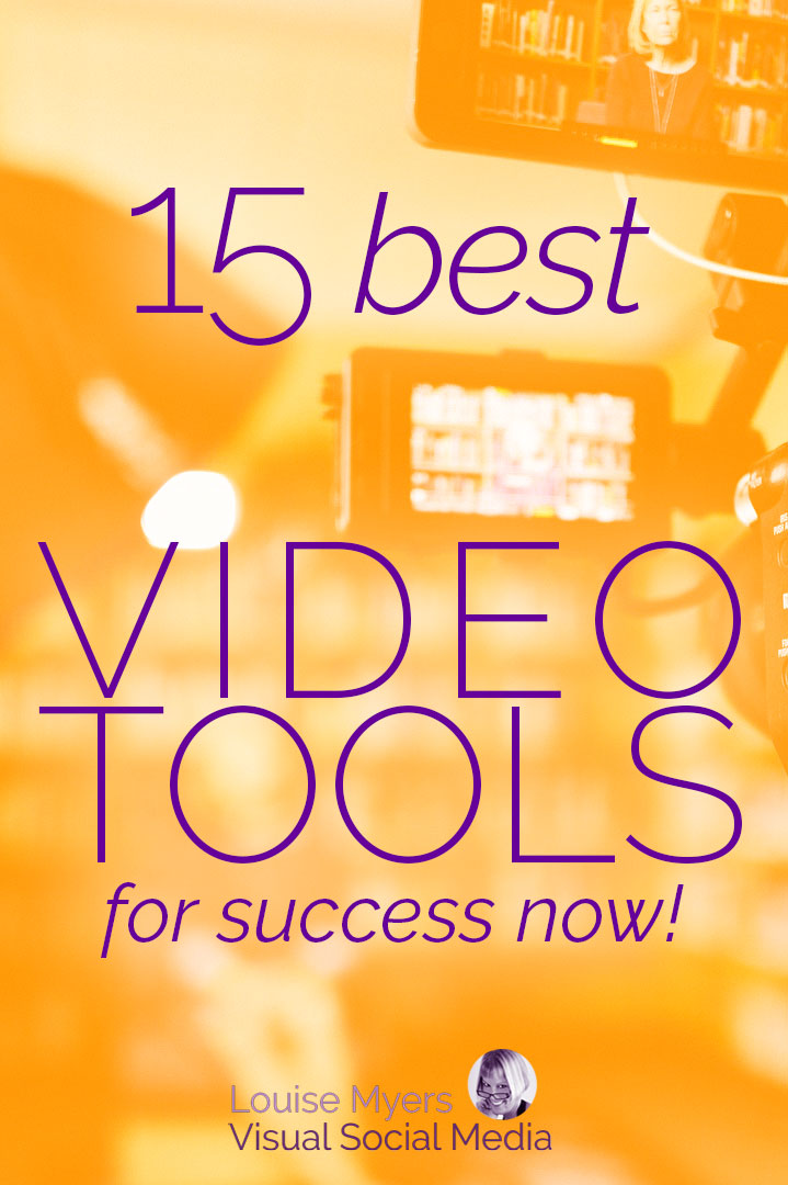 best video tools pinnable image in orange tones.