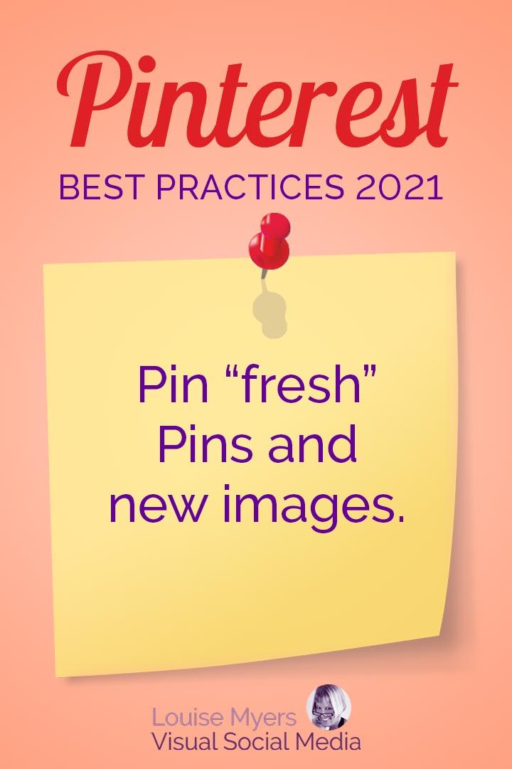 Pinterest favors fresh Pins