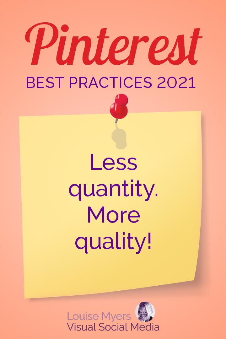 Less quantity, more quality of Pinterest Pins