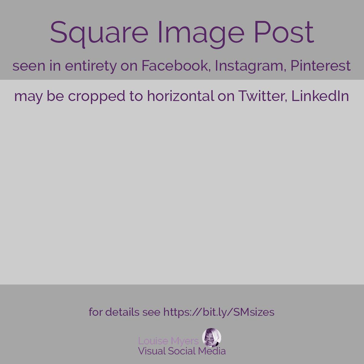 square social media post template.