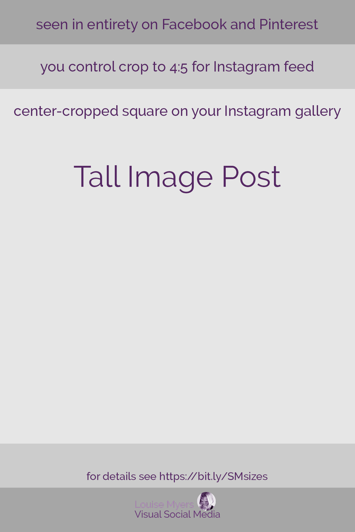 template for tall social media image posts.