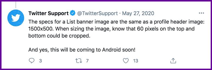 tweet of twitter list banner specs.