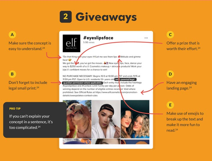 tiktok giveaway ads graphic.