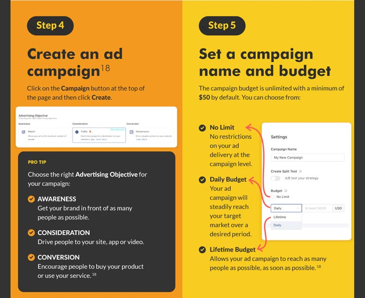 screenshot of creating tiktok ad campaign.