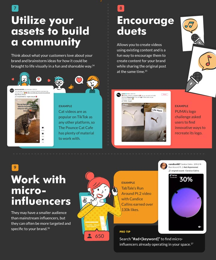 tiktok best practices community influencers graphic.