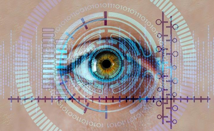 eye symbolizing watching youtube.