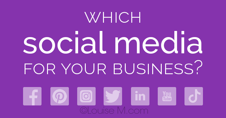 header image says which social media for your business.
