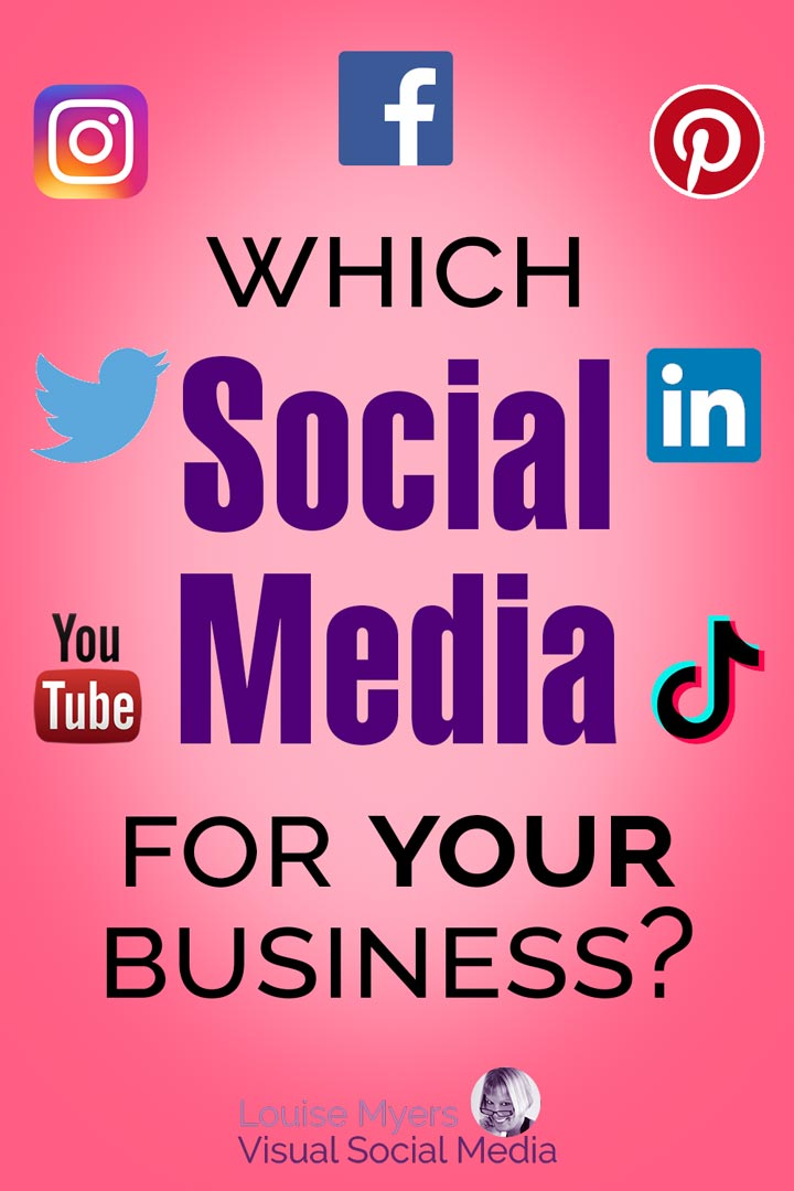 pinnable image says which social media for your business.