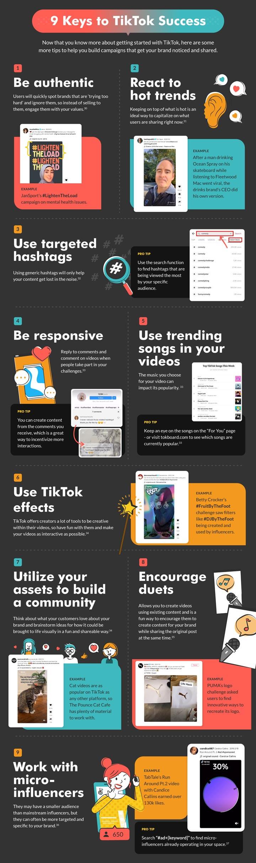 tiktok success tips infographic.