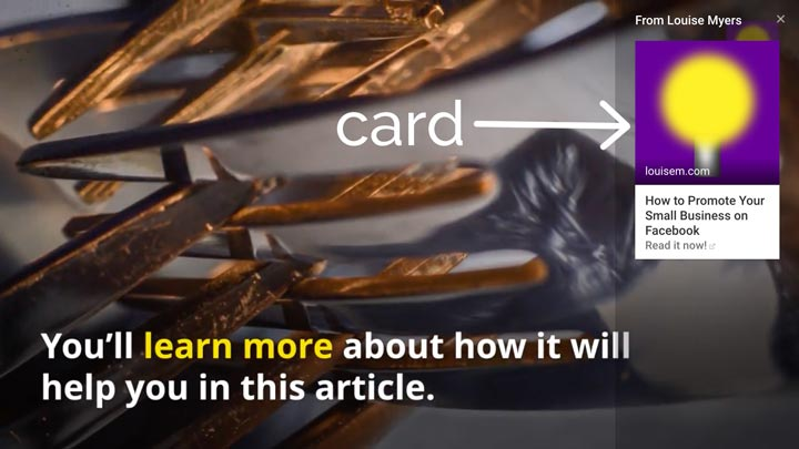 youtube card example.