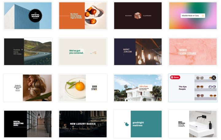 a few of the youtube channel art templates in Snappa.
