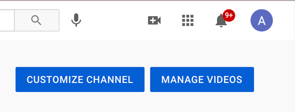 where to find the customize channel button.