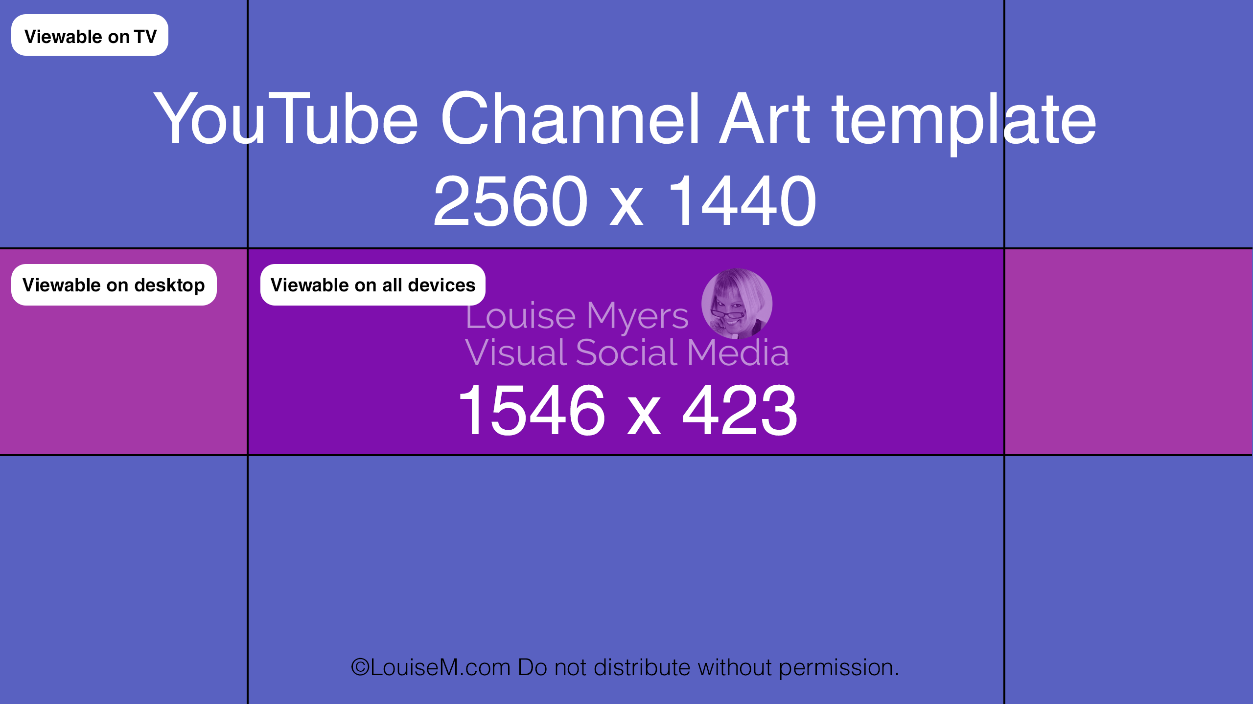 free youtube channel art template.