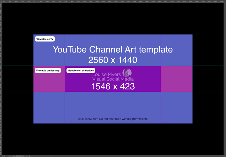 setting guides for the channel art template in photoshop.