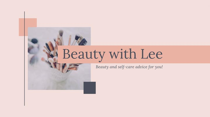 YouTube banner example for beauty channel.