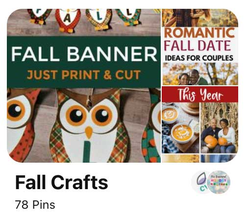 screenshot of Pinterest board idea with seasonal theme.