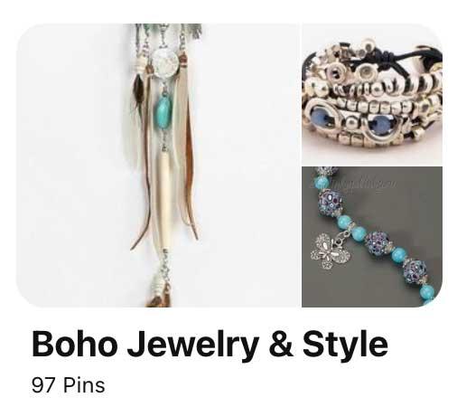 screenshot of Pinterest board idea with niche style theme.