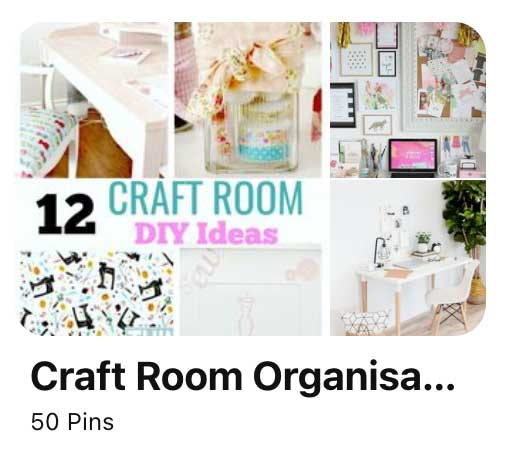 screenshot of Pinterest board idea for craft blogger.