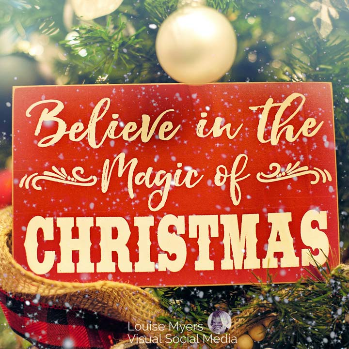 believe in the magic of chtistmas slogan.