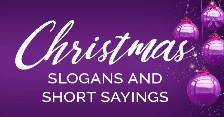 christmas slogans and short sayings header image.