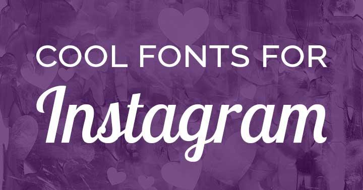 cool fonts for Instagram purple header image.