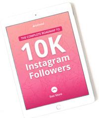 gudie to 10k instagram followers ebook image.