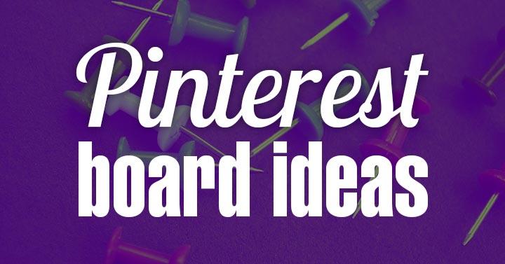 pinterest board ideas purple header graphic.