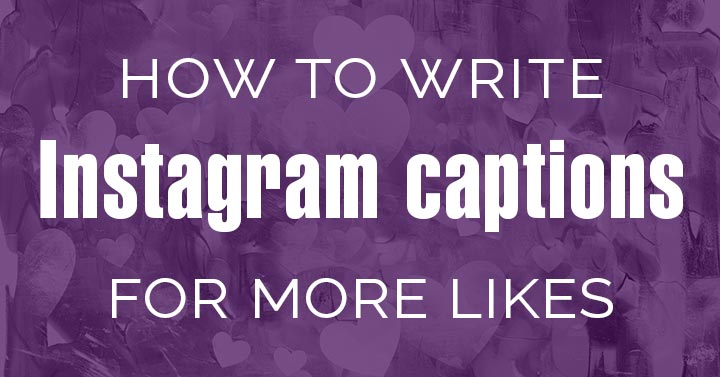 How to write Instagram captions header image.