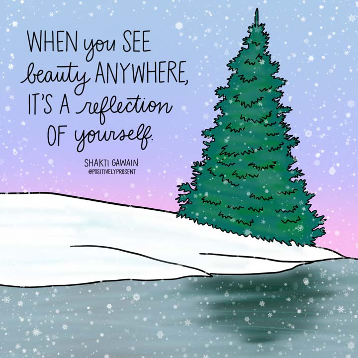 beauty is a reflection snowstorm art.