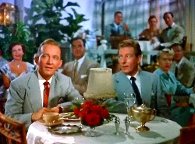 photo of Bing Crosby and Danny Kaye in White Christmas.